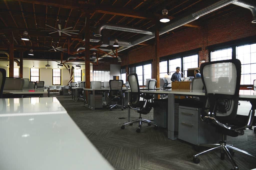 Nettoyage d'espace de coworking