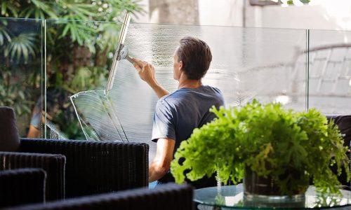 Nettoyage de vitre espace de coworking